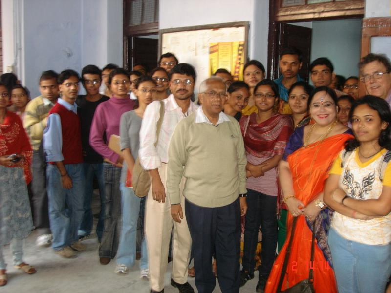 Students of Journalism & Mass Communication of Calcutta University 1.12.09