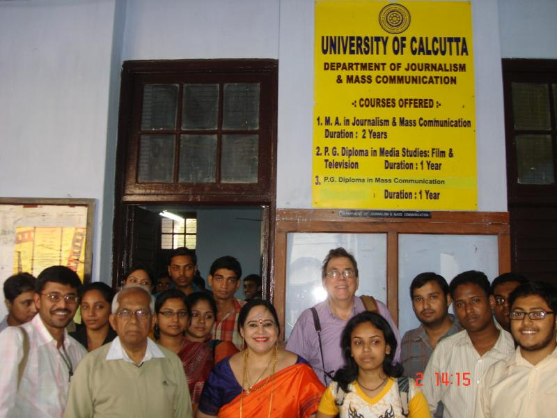 With Students and Faculty  Infront of The Department in Senate House Kolkata