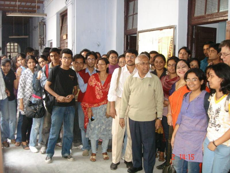 With my loving students on 1st December 2009 & alongwith a Professor fron USA