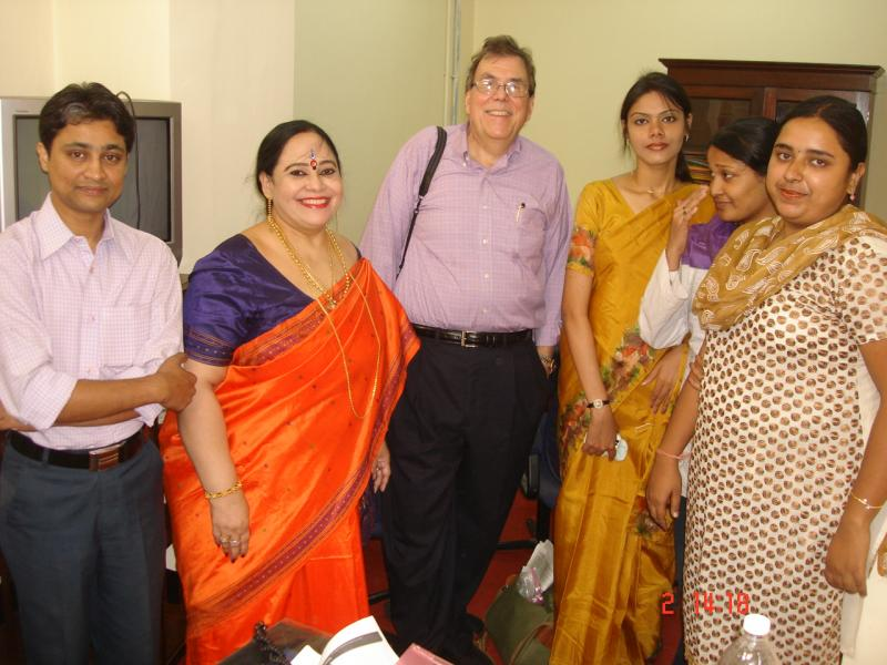 With Prof. Steve Raymer, Indiana University, USA and my students