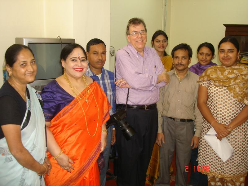 Professor Dr Tapati Basu - Pictures With Students In Assam