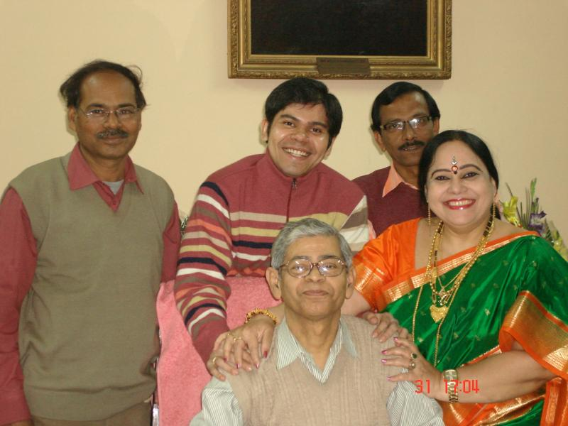 With Prof. Tapan Mukherje, Pro-VC, Finance on the day of his retirement