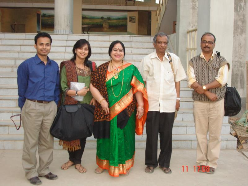 With Faculty of Mass Communication Assam University Silchar