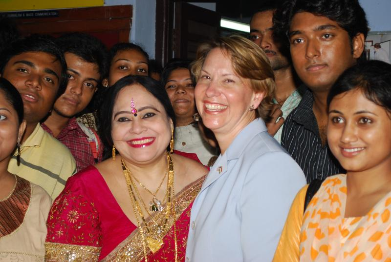 Professor. Tapati Basu and Consul General Beth A. Payne