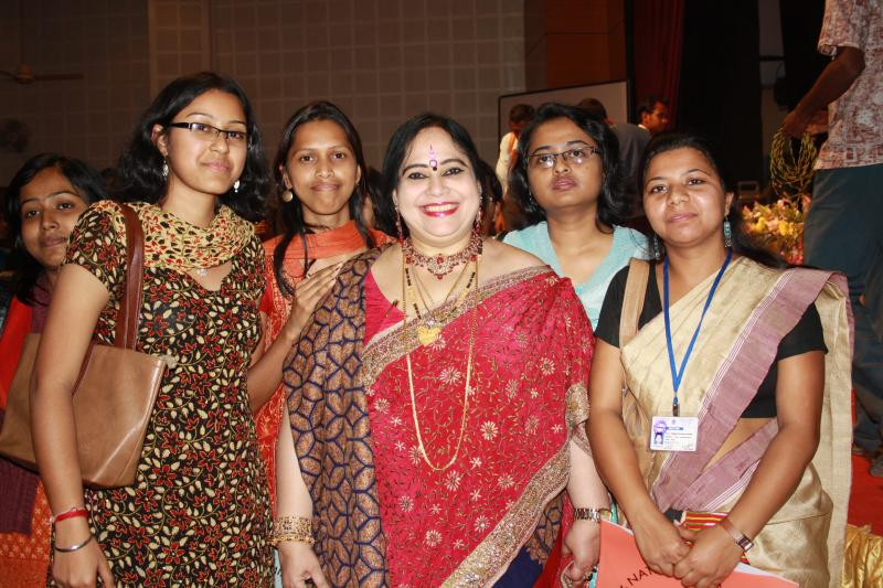 With the Students in the Auditorium of Assam University Silchar
